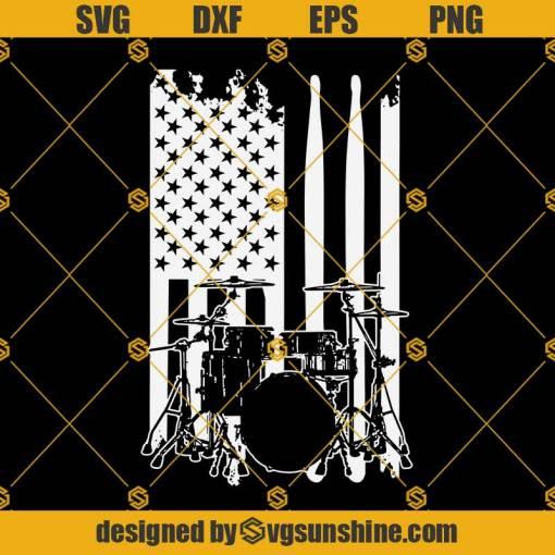 Drum USA Flag Svg, USA Flag Svg, Drum Svg