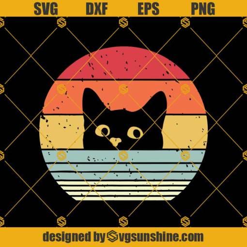 Funny Cat Svg, Cat Svg, Distressed 80s Vintage Svg