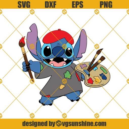 Stitch Disney Artist Svg, Painter Svg, Stitch Svg,Scrump Svg