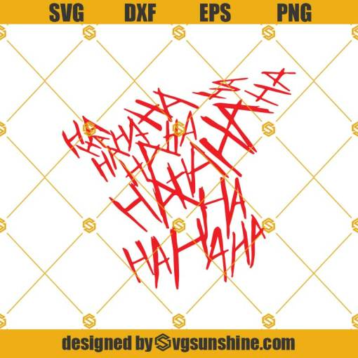Joker Smile Clown Laughing Ha Funny Svg, Ha Ha Ha Digital Cut File Svg, The Joker Svg