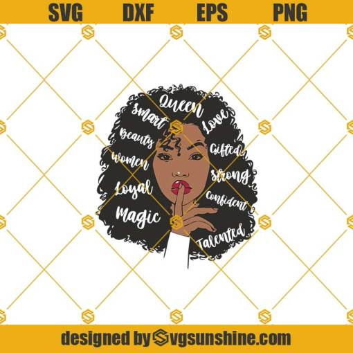 African American Woman Svg, Afro Woman Svg, Strong Woman Svg, Black Woman Svg, Afro Girl Svg, Afro Svg, Queen Svg