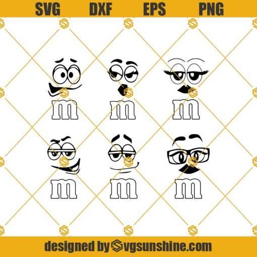 M And Ms Faces Bundle Svg, Faces Svg, M&M Faces Svg, Bundle Svg