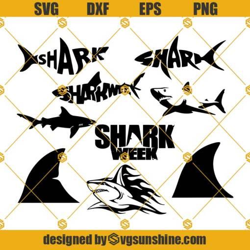 Shark Week SVG, Shark SVG Bundle, Shark cut file, clipart, Shark svg files for silhouette cricut