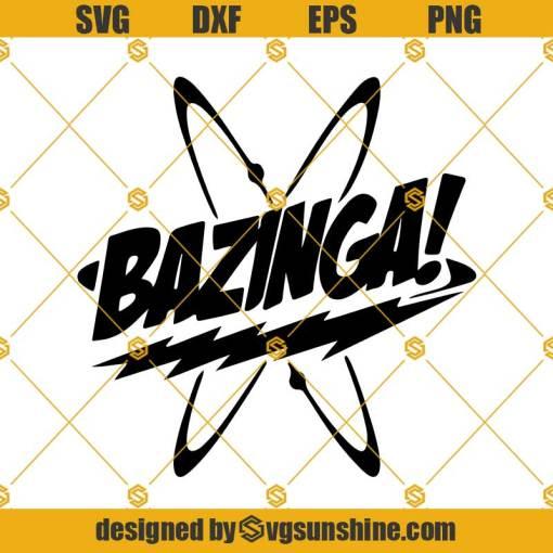 Bazinga Svg, The Big Bang Theory Svg, Sheldon Cooper Quotes Svg
