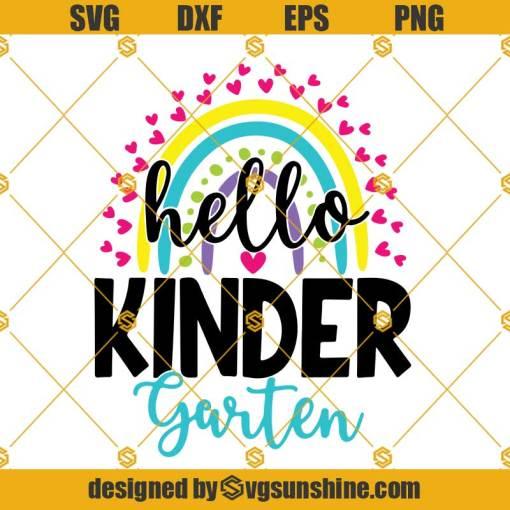 Hello Kindergarten Svg, Back To School Svg, Teacher Svg