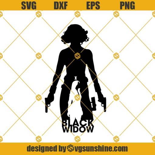 Black Widow SVG PNG, Natasha Romanoff SVG PNG DXF EPS