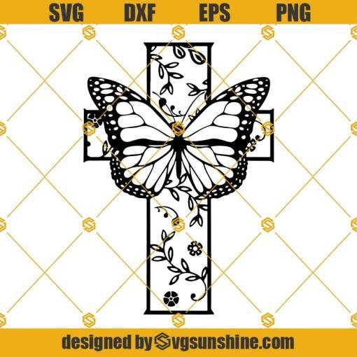 Butterfly Cross SVG, Butterfly SVG, Cross SVG, Christian SVG