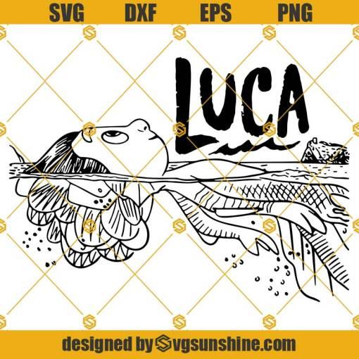 Luca SVG PNG DXF EPS, Luca Pixar Movie SVG Cut File