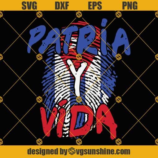 Patria Y Vida Svg, Revolution Freedom Movement Svg, Cuba Svg