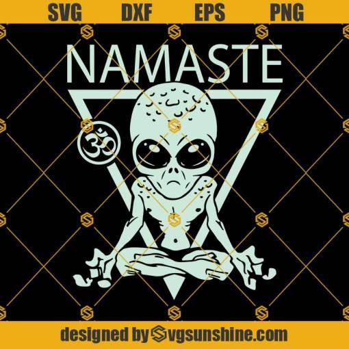 Alien Namaste Svg