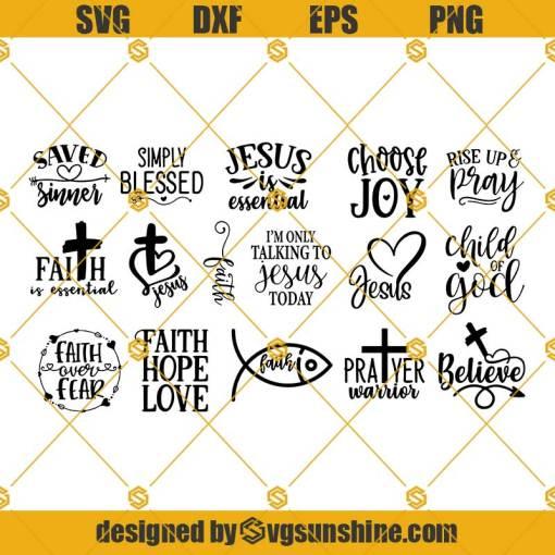 Christian Svg Bundle, Religious Svg, Faith Svg, Bible Verse Svg, Religious Svg Bundle