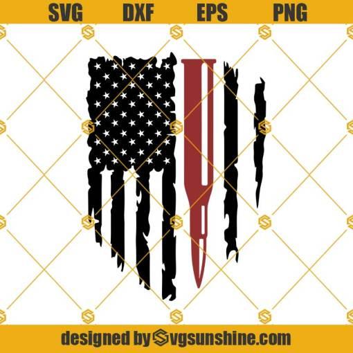 Bullet American Flag Svg, American Bullet Flag Svg, American Flag Svg