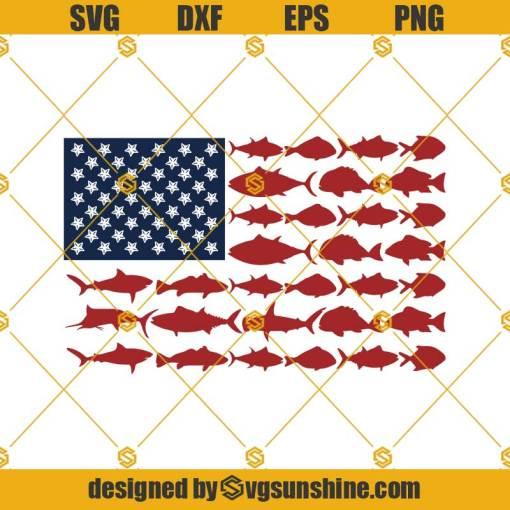 American Flag Fish Svg, American Flag Fish Svg, 4th Of July Svg, Memorial Day Svg
