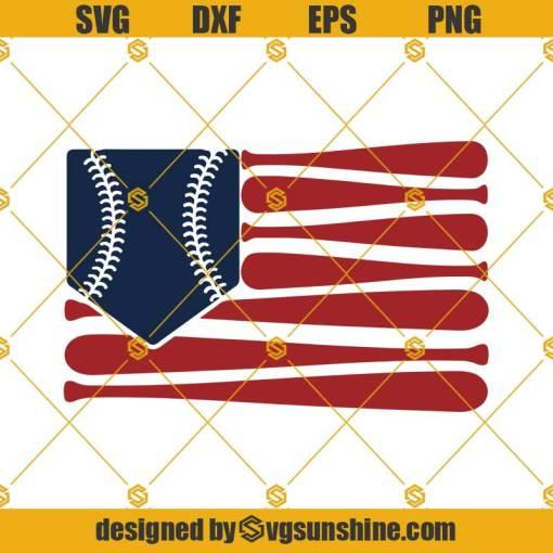 Baseball Flag Svg, US Flag Svg, 4th of July Svg
