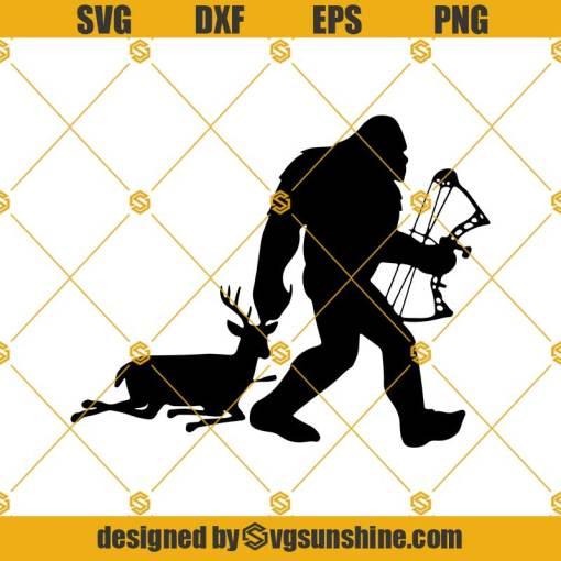 Bigfoot Deer Hunter Svg, Funny Deer Hunter SVG, Big Buck SVG,Deer Hunting Saying Svg