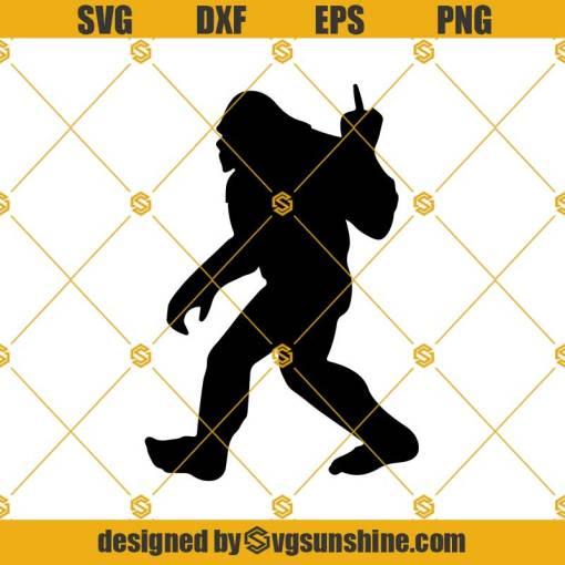 Bigfoot Middle Finger Svg, Bigfoot SVG, Sasquatch SVG