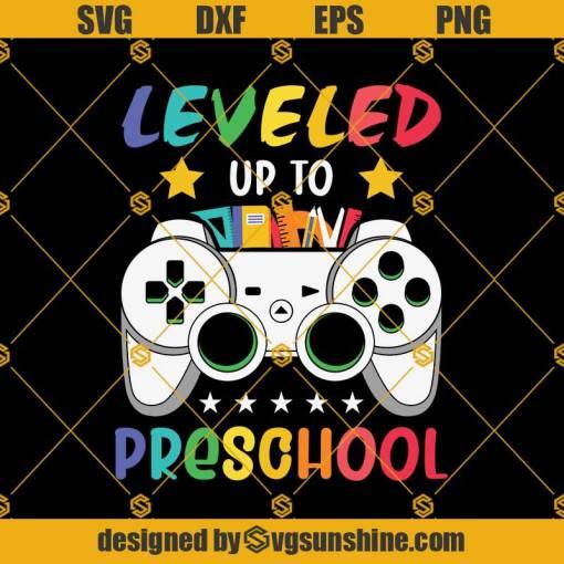 Leveled Up To 2nd Grade PreSchool Svg, Graduation Svg, Kindergarten Svg, Pre K Svg, Back To School Svg