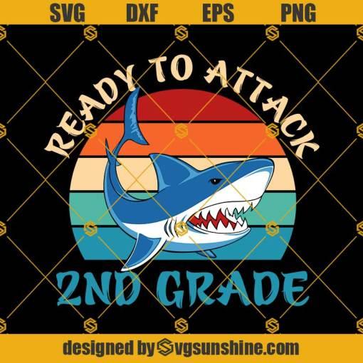 Ready To Attack 2nd Grade Svg, Graduation Svg, Kindergarten Svg, Pre K Svg, Back To School Svg
