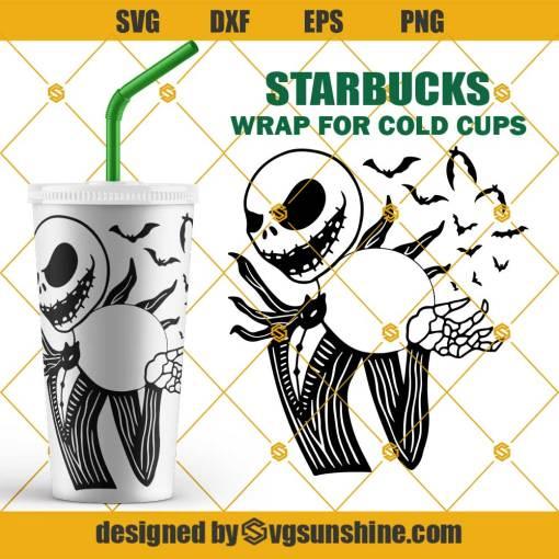 Jack Skellington Starbucks SVG, Halloween Full Wrap for Starbucks Venti Cold Cup SVG
