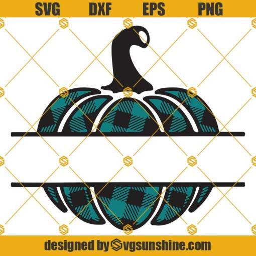 Fall Plaid Pumpkin Monogram Frame SVG