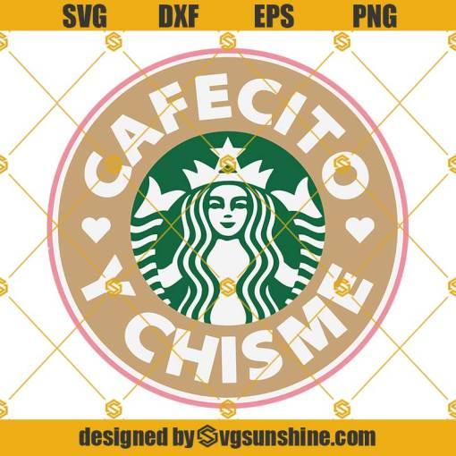 Cafecito Y Chisme Starbucks Cup SVG, Pan Dulce SVG Border Starbucks Venti 24oz Cold Cup SVG