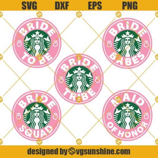 Bride Starbucks Cup SVG