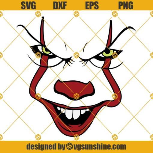 Pennywise Face SVG IT SVG Clown SVG, Halloween SVG
