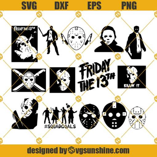 Jason Voorhees SVG, Jason Mask SVG, Friday The 13th SVG Bundle