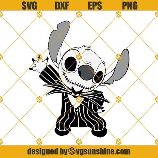 Jack Skellington Stitch SVG, Jack Skellington SVG, Stitch Halloween SVG