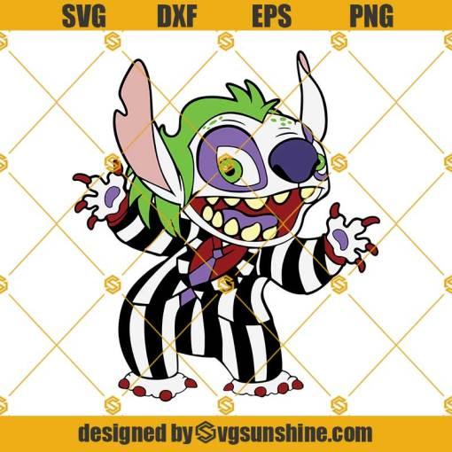 Stitch Beetlejuice SVG, Stitch Halloween SVG