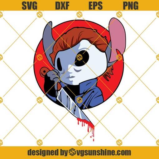 Stitch Michael Myers SVG PNG DXF EPS Cut Files Cricut