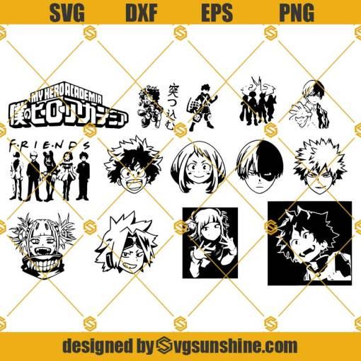 My Hero Academia SVG, My Hero Academia Vector, My Hero Academia silhouette, Anime SVG Bundle