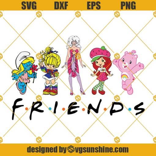 80s Cartoon Friends SVG, Care Bears SVG, Strawberry Shortcake Cartoon SVG, Rainbow Brite SVG, Smurf SVG