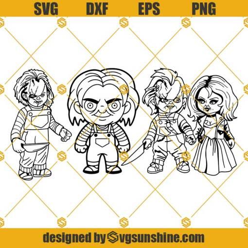 Chucky SVG Bundle, Chucky SVG, Chucky And Tiffany SVG