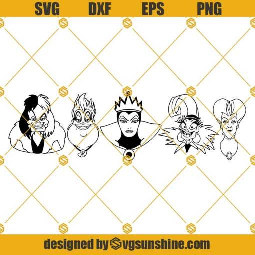 Disney Villains SVG, Evil Queen SVG, Ursula SVG