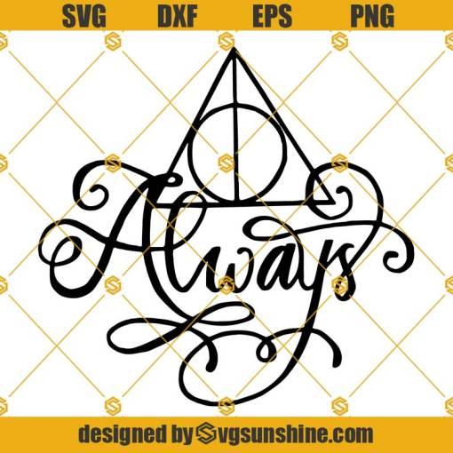 Always Deathly Hallows SVG, Harry Potter SVG, Deathly Hallows Always SVG