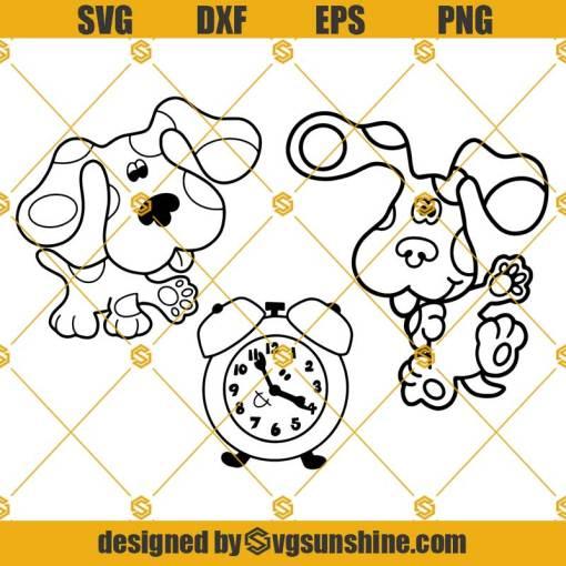 Blues Clues SVG PNG DXF EPS Cut Files Vector Clipart Cricut Silhouette