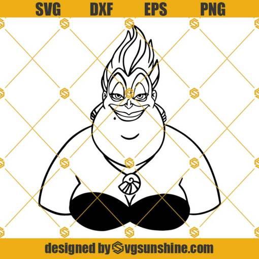 Ursula Disney Villain SVG, The Little Mermaid SVG