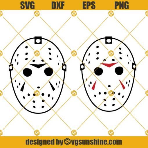 Jason Mask Vector SVG, Hockey Mask SVG Horror Movie SVG
