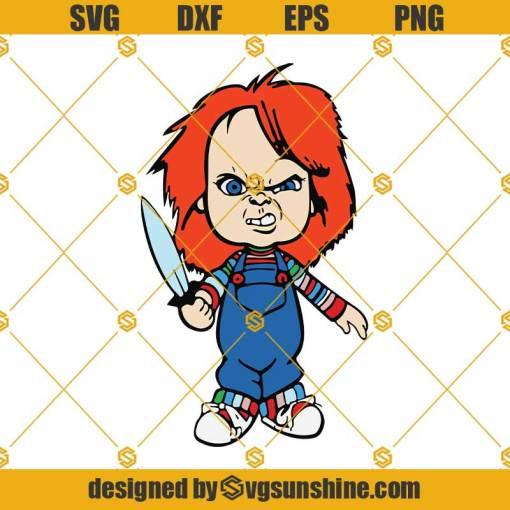 Chucky SVG for Cricut Silhouette, Halloween Cut File, Halloween Horror Silhouette SVG