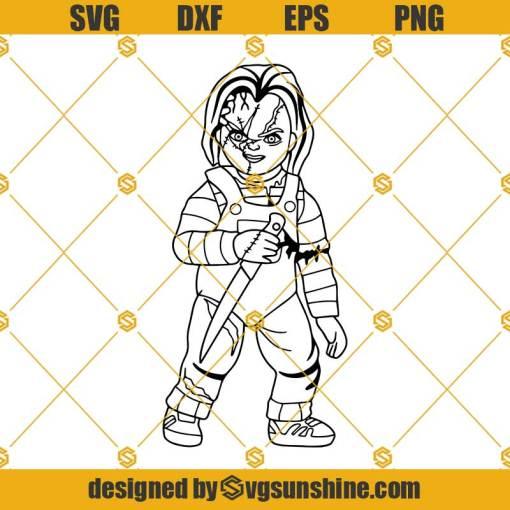 Chucky SVG Vector, Chucky Cricut Silhouette, Chucky Clipart, Halloween SVG, Horror Movie SVG