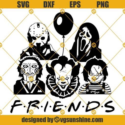 Friends Horror Movie SVG, Horror Team SVG, Halloween Friends SVG, Halloween SVG