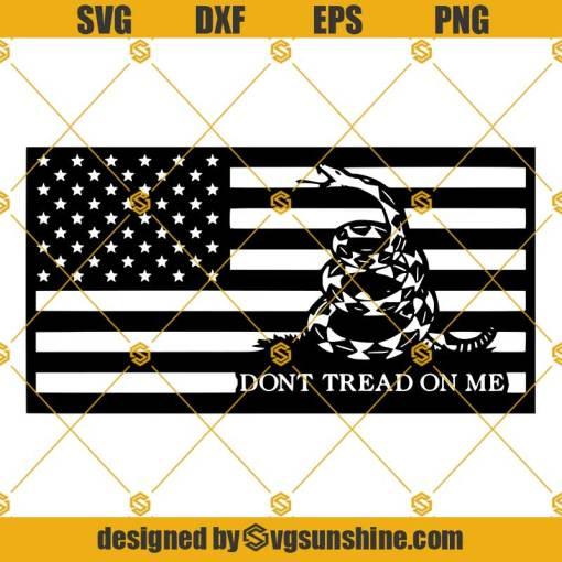 Gadsden Flag Dont Tread On Me SVG PNG DXF EPS
