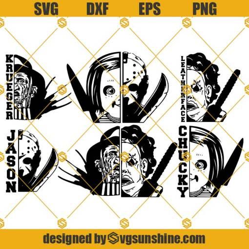 Chucky SVG Jason SVG Leatherface SVG