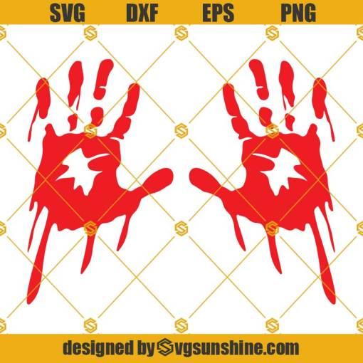 Bloody Hand SVG, Splash Art, Blood Splatter SVG, Scary Blood Drop Droplet Red Dripping SVG
