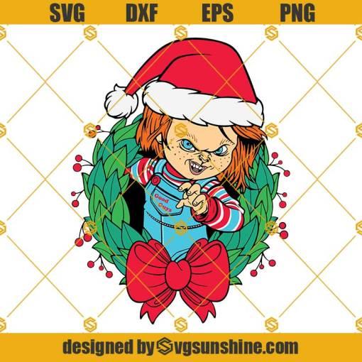 Chucky Christmas Svg, Scary Christmas Svg, Christmas Horror Killer Svg, Chucky Svg, Merry Christmas Movie Svg