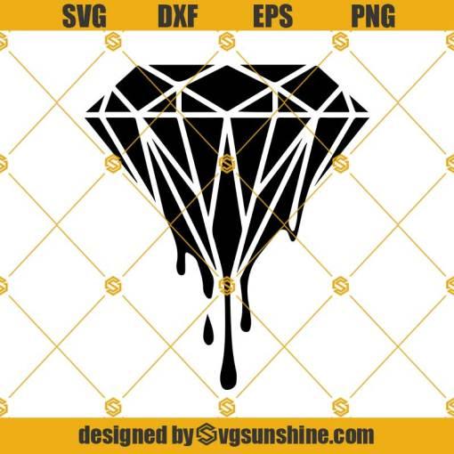 Dripping Diamond SVG Crystal SVG Gemstone SVG