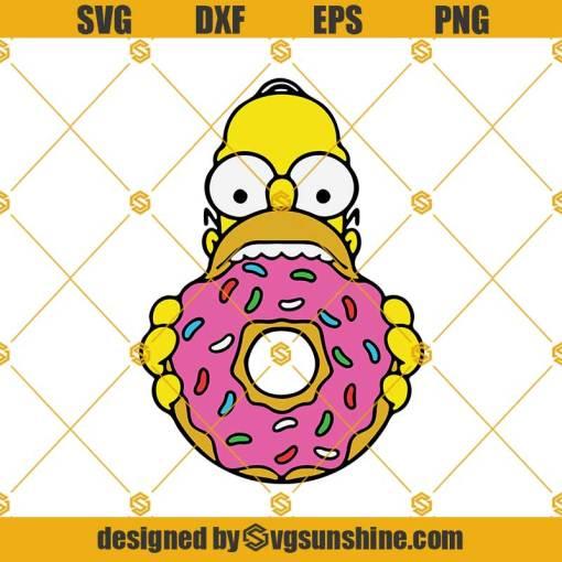 Simpson Donut SVG, Homer Donut SVG, Dunkin Donuts SVG, Donut SVG