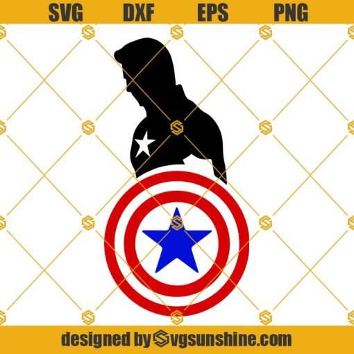 Captain America SVG PNG DXF EPS Cut Files Vector Clipart Cricut Silhouette