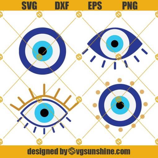 Evil Eye SVG Bundle Cut File For Cricut, Cameo Silhouette